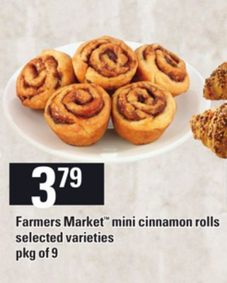 Farmers Market Mini Cinnamon Rolls - Pkg of 9