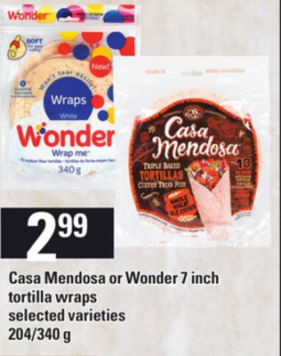 Casa Mendosa Or Wonder 7 Inch Tortilla Wraps - 204/340 g