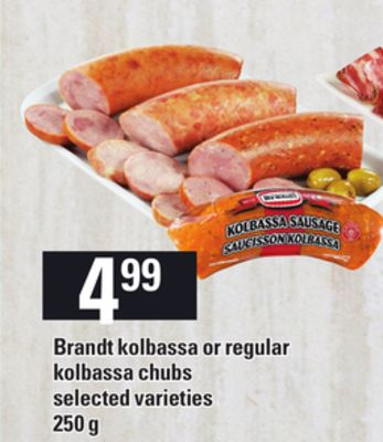 Brandt Kolbassa Or Regular Kolbassa Chubs - 250 g