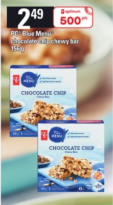 PC Blue Menu Chocolate Chip Chewy Bar.156 g