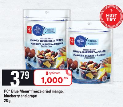 PC Blue Menu Freeze Dried Mango - Blueberry And Grape - 28 g