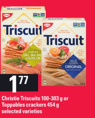 Christie Triscuits - 100-303 g or Toppables Crackers - 454 g