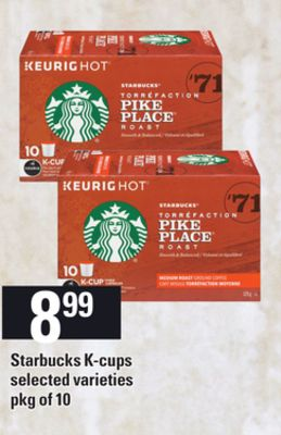 Starbucks K-cups - Pkg of 10
