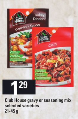 Club House Gravy Or Seasoning Mix - 21-45 g