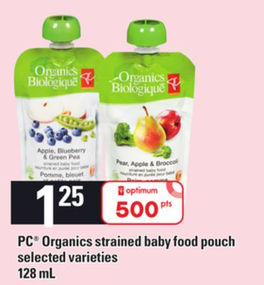 PC Organics Strained Baby Food Pouch - 128 mL