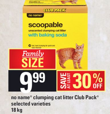 No Name Clumping Cat Litter Club Pack - 18 Kg