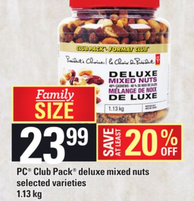 PC Club Pack Deluxe Mixed Nuts - 1.13 Kg