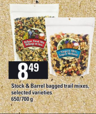 Stock & Barrel Bagged Trail Mixes - 650/700 g