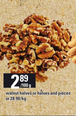 Walnut Halves Or Halves And Pieces