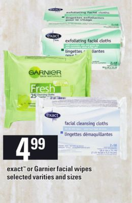 Exact Or Garnier Facial Wipes