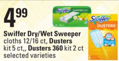 Swiffer Dry/wet Sweeper Cloths 12/16 Ct - Dusters Kit 5 Ct. - Dusters 360 Kit 2 Ct