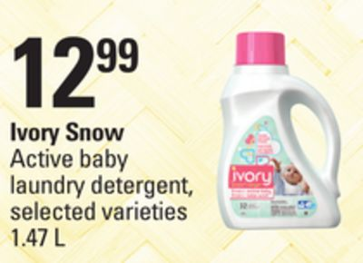 Ivory Snow Active Baby Laundry Detergent - 1.47 L