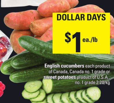 English Cucumbers Or Sweet Potatoes