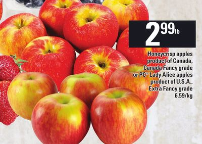 Honeycrisp Apples or PC Lady Alice Apples