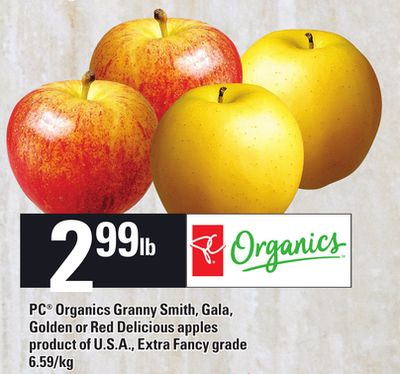PC Organics Granny Smith - Gala - Golden Or Red Delicious Apples