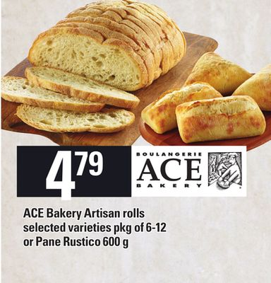 Ace Bakery Artisan Rolls - Pkg of 6-12 Or Pane Rustico - 600 g