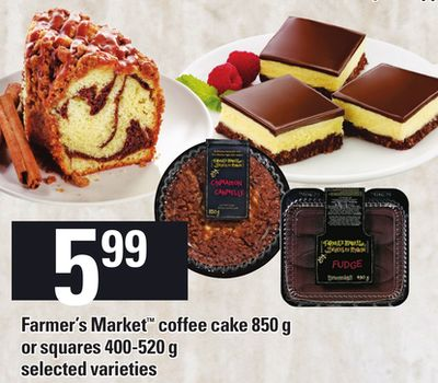 Farmer's Market Coffee Cake - 850 G Or Squares - 400-520 G