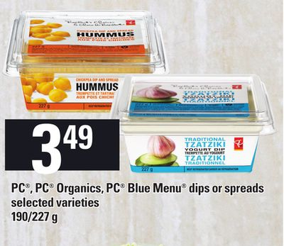 PC - PC Organics - PC Blue Menu Dips Or Spreads - 190/227 g