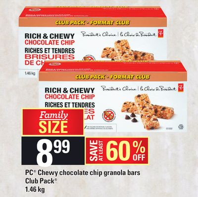 PC Chewy Chocolate Chip Granola Bars - 1.46 Kg