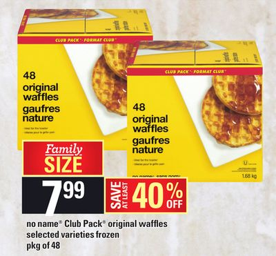 No Name Club Pack Original Waffles - Pkg of 48