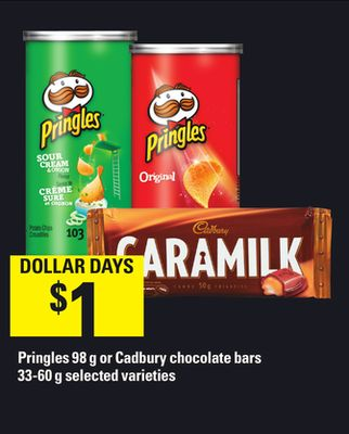 Pringles - 98 G Or Cadbury Chocolate Bars - 33-60 G