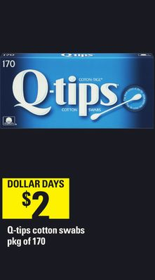 Q-tips Cotton Swabs - Pkg Of 170