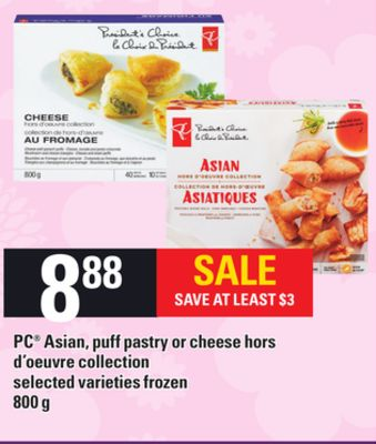 PC Asian - Puff Pastry Or Cheese Hors D'oeuvre Collection - 800 g