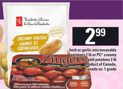 Herb Or Garlic Microwavable Potatoes - 1 Lb Or PC Creamy Gold Potatoes - 2 Lb