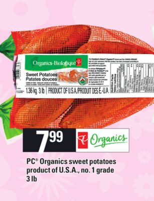 PC Organics Sweet Potatoes