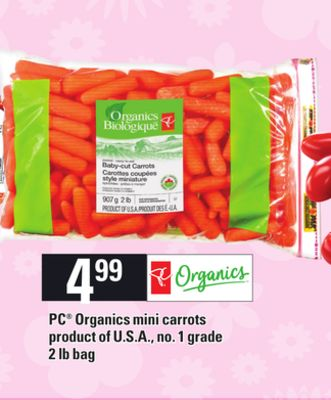 PC Organics Mini Carrots.2 Lb Bag