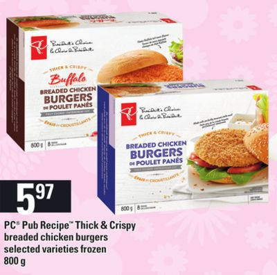 PC Pub Recipe Thick & Crispy Breaded Chicken Burgers - 800 g