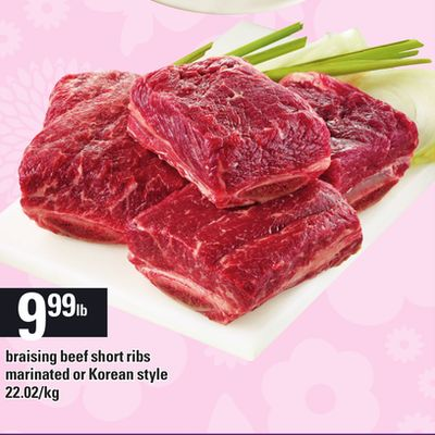 Braising Beef Short Ribs Marinated Or Korean Style
