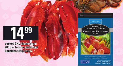 Cooked Ckl Lobster Meat - 200 g or Lobster Claws And Knuckles - 454 g