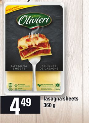 Lasagna Sheets - 360 g