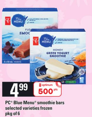 PC Blue Menu Smoothie Bars