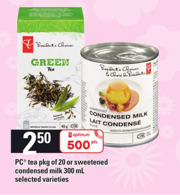 PC Tea - Pkg Of 20 Or Sweetened Condensed Milk - 300 Ml