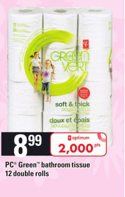 PC Green Bathroom Tissue