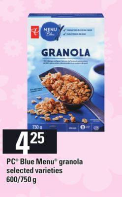 PC Blue Menu Granola - 600/750 g