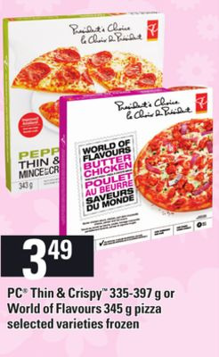 PC Thin & Crispy - 335-397 G Or World Of Flavours - 345 G Pizza