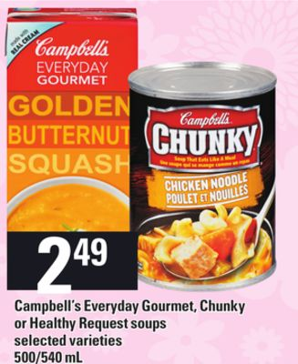 Campbell's Everyday Gourmet - Chunky Or Healthy Request Soups - 500/540 mL