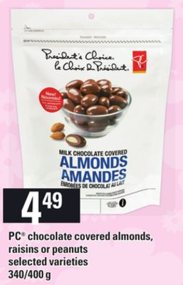 PC Chocolate Covered Almonds.raisins Or Peanuts - 340/400 g
