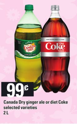 Canada Dry Ginger Ale Or Diet Coke - 2l