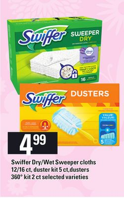 Swiffer Dry/wet Sweeper Cloths 12/16 Ct - Duster Kit 5 Ct.dusters 360° Kit 2