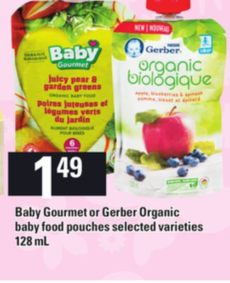 Baby Gourmet Or Gerber Organic Baby Food Pouches
