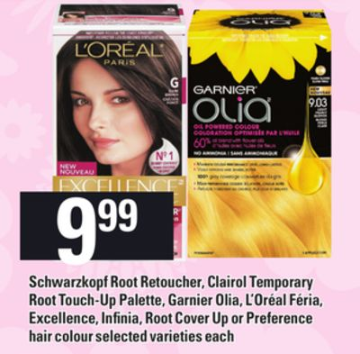 Schwarzkopf Root Retoucher - Clairol Temporary Root Touch-up Palette - Garnier Olia - L'oréal Féria - Excellence - Infinia - Root Cover Up Or Preference Hair Colour