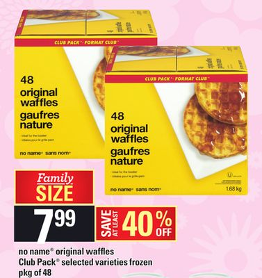 No Name Original Waffles Club Pack - Pkg of 48