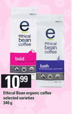 Ethical Bean Organic Coffee.340 g