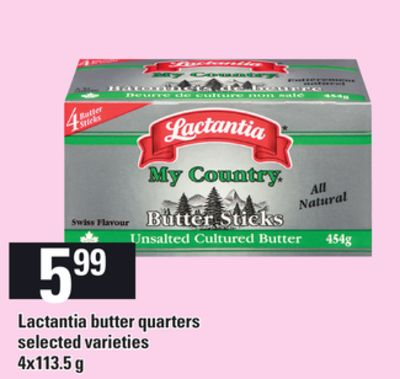 Lactantia Butter Quarters - 4x113.5 g