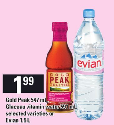 Glaceau Vitamin Water - 591 Ml Or Evian - 1.5 L