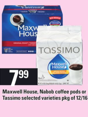 Maxwell House - Nabob Coffee PODS Or Tassimo
